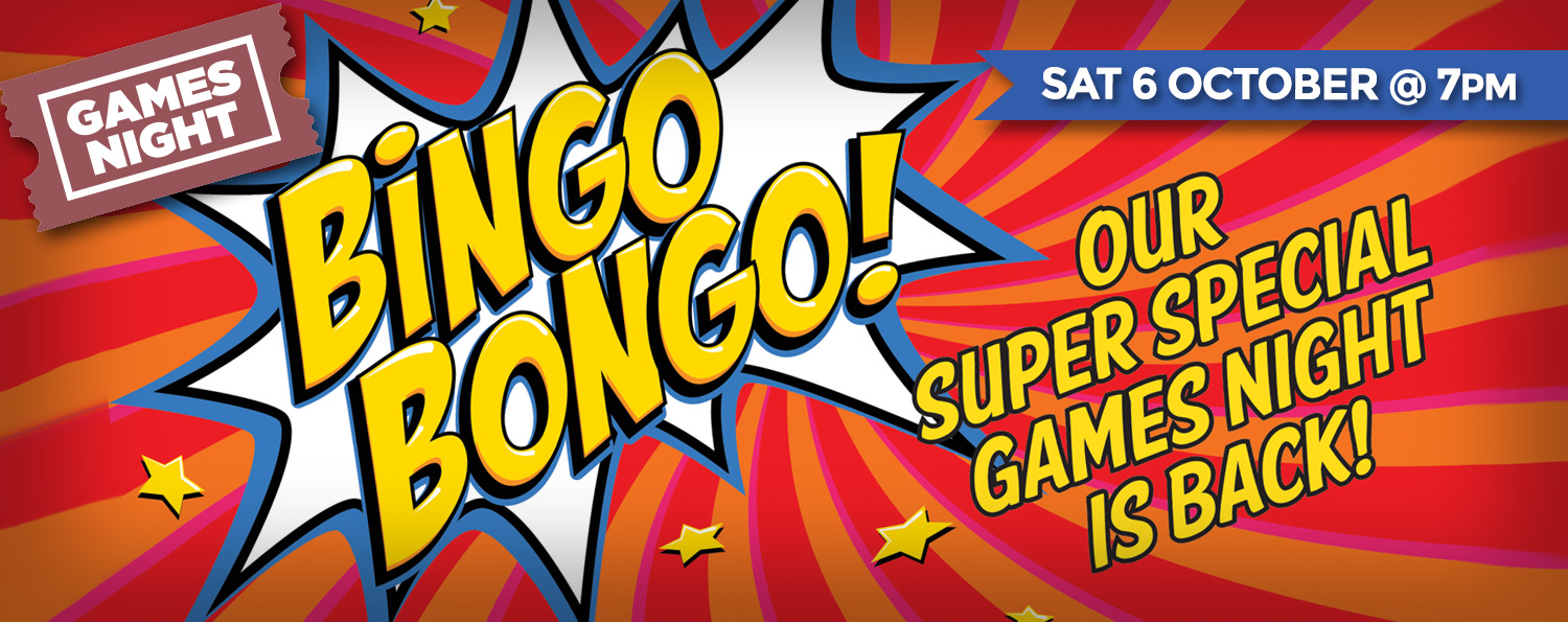 Bingo Bongo — SAT 6 OCTOBER @ 7pm