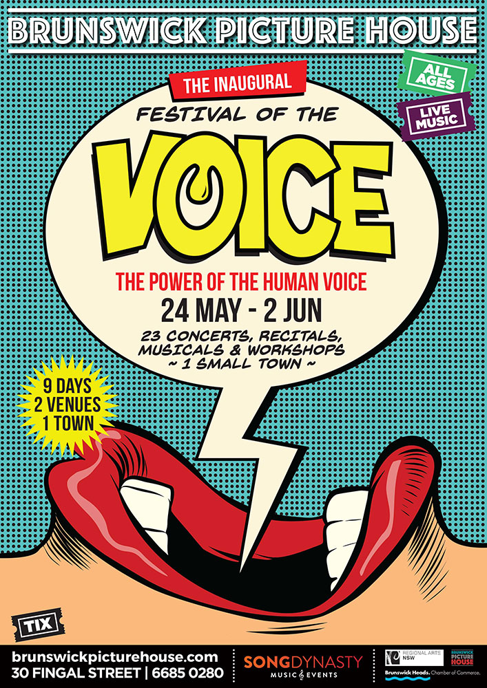 THE INAUGURAL FESTIVAL OF THE VOICE POSTER